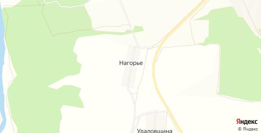 Карта деревни Нагорье в Кирове с улицами, домами и почтовыми отделениями со спутника онлайн