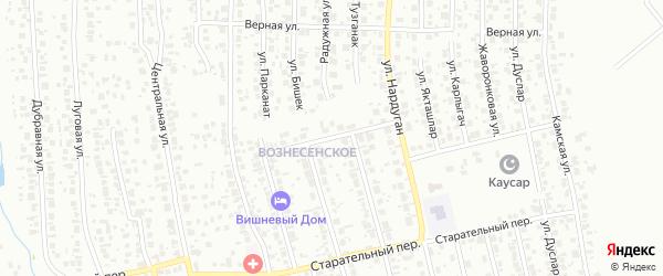 Праздничный переулок на карте Казани с номерами домов