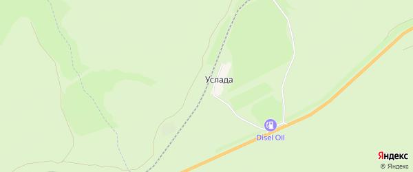 Карта железнодорожного разъезда Услады в Самарской области с улицами и номерами домов
