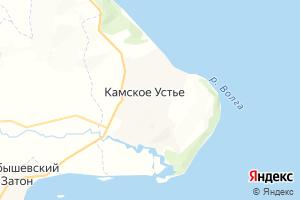 Карта пгт Камское Устье Республика Татарстан