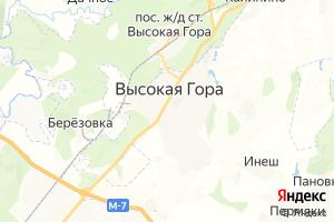 Карта пос. Высокая гора Республика Татарстан