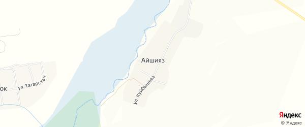 Карта деревни Айшияза в Татарстане с улицами и номерами домов