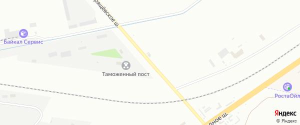 Хрещевское шоссе на карте села Русской Борковки Самарской области с номерами домов