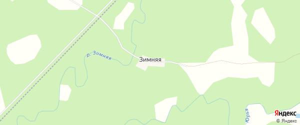 Карта Зимней деревни в Кировской области с улицами и номерами домов