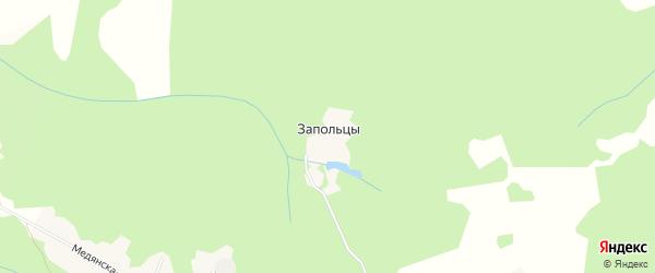 Карта деревни Запольцы в Кировской области с улицами и номерами домов