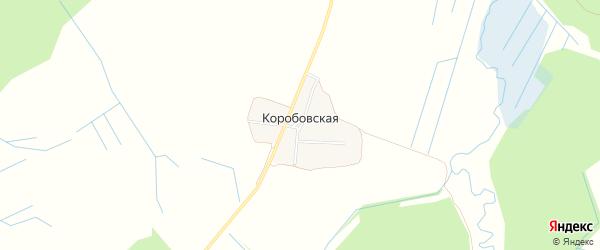 Карта Коробовской деревни города Кирова в Кировской области с улицами и номерами домов