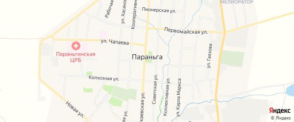 Территория ОНП Огороды Ветеран на карте поселка Параньги Марий Эл с номерами домов