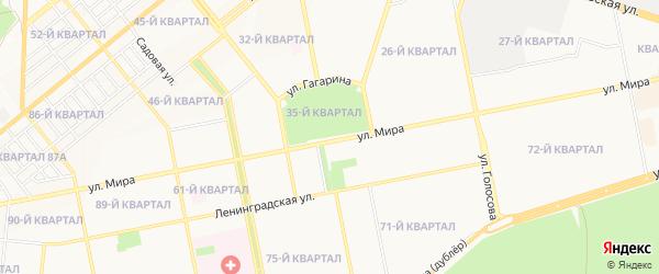 Садовое товарищество СТ Трест столовых (Федоровка) на карте Тольятти с номерами домов