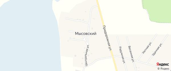 Лесная улица на карте Мысовского поселка Татарстана с номерами домов