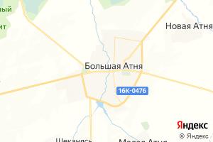 Карта с. Большая Атня