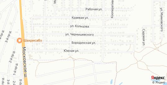 Бородинская улица в Жигулевске с номерами домов на карте. Спутник и схема онлайн
