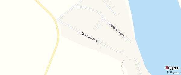 Запольская улица на карте деревни Редькино Кировской области с номерами домов