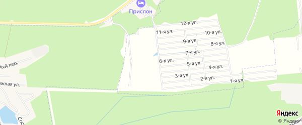 Карта территории сдт Домостроитель (Загарье) в Кировской области с улицами и номерами домов