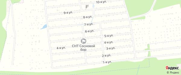 Пятая улица на карте территории Нст Березки Кировской области с номерами домов