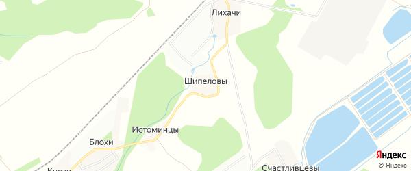 Карта деревни Шипеловы города Кирова в Кировской области с улицами и номерами домов