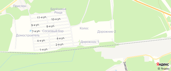 Карта территории сдт Лесоруб (Загарье) в Кировской области с улицами и номерами домов