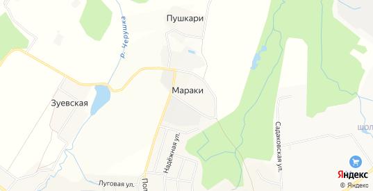 Карта деревни Мараки в Кирове с улицами, домами и почтовыми отделениями со спутника онлайн