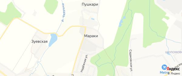 Карта деревни Мараки города Кирова в Кировской области с улицами и номерами домов