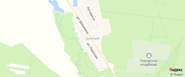 Карта Дачного поселка города Димитровграда в Ульяновской области с улицами и номерами домов