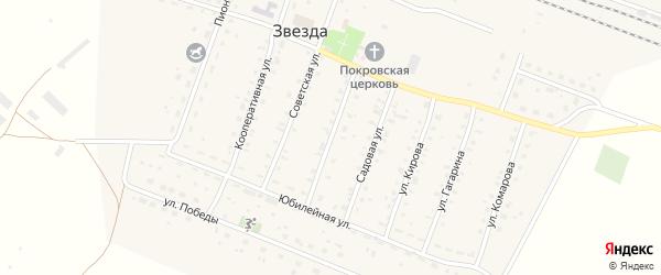 Первомайская улица на карте железнодорожной станции Звезды Самарской области с номерами домов