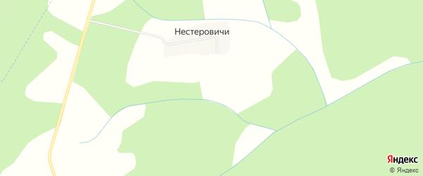Карта деревни Нестеровичи в Кировской области с улицами и номерами домов