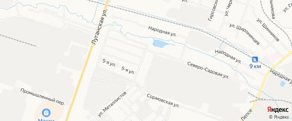 Территория гк Северные Увалы (Октябрьский) на карте Кирова с номерами домов