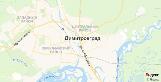 Карта Димитровграда с улицами и домами подробная. Показать со спутника номера домов онлайн