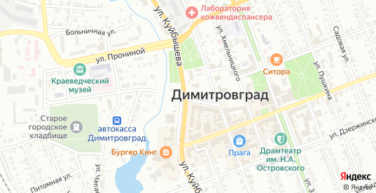Улица Лесхоза в Димитровграде с номерами домов на карте. Спутник и схема онлайн