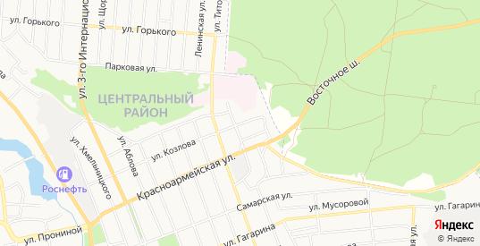 Карта поселка Лесхоза в Димитровграде с улицами, домами и почтовыми отделениями со спутника онлайн