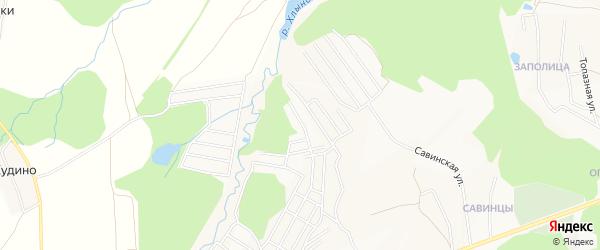 Территория сдт Рябинушка-Радужный на карте Кирова с номерами домов