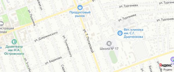 Улица Потаповой на карте Димитровграда с номерами домов