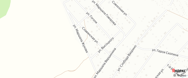 Славянская улица на карте Кирова с номерами домов