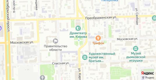 Территория сдт Березка-Русское в Кирове с номерами домов на карте. Спутник и схема онлайн