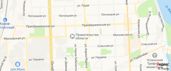 Территория ок 16 (Нововятск) на карте Кирова с номерами домов