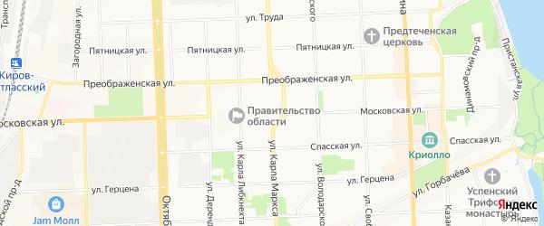 Территория сдт Мелиоратор-Дороничи на карте Кирова с номерами домов