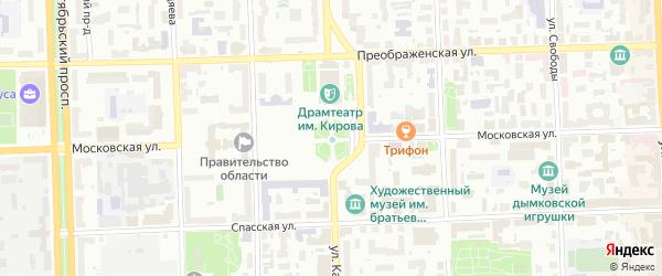 Территория сдт Волна (Окт) на карте Кирова с номерами домов