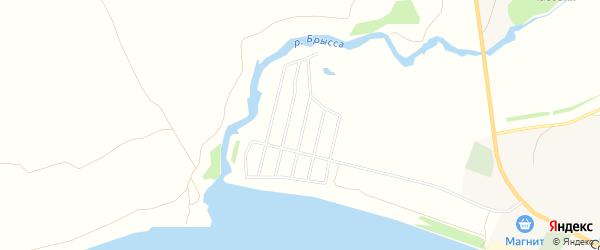 Территория ДНТ Именьковское на карте Лаишевского района Татарстана с номерами домов