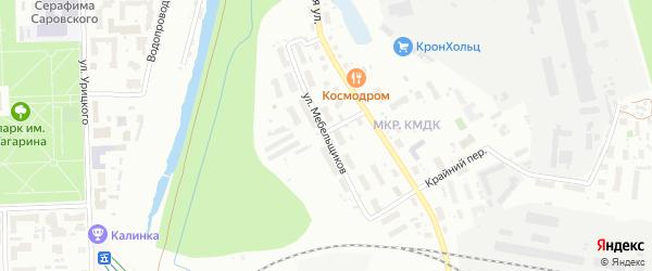 Улица Мебельщиков на карте Кирова с номерами домов