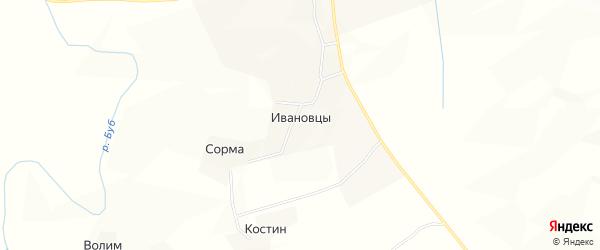 Карта деревни Ивановцы в Коми с улицами и номерами домов