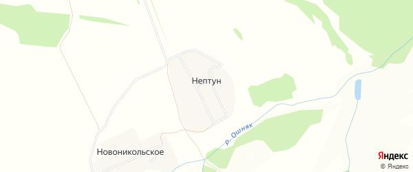 Карта деревни Нептуна в Татарстане с улицами и номерами домов