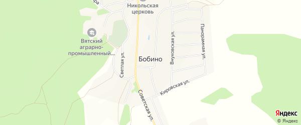 Карта села Бобино в Кировской области с улицами и номерами домов