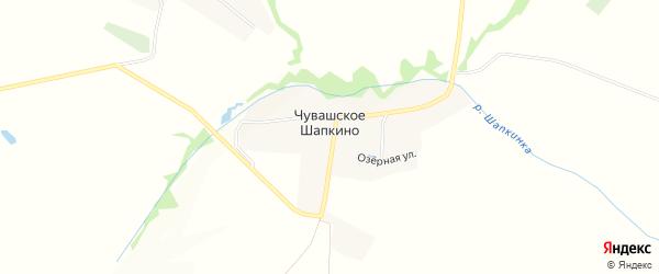 Карта села Чувашское Шапкино в Татарстане с улицами и номерами домов