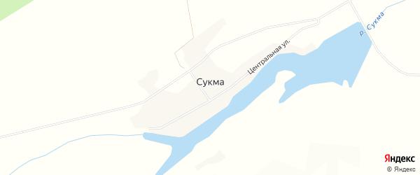 Карта деревни Сукма в Марий Эл с улицами и номерами домов