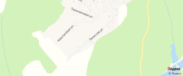 Тенистая улица на карте деревни Корюгино Кировской области с номерами домов