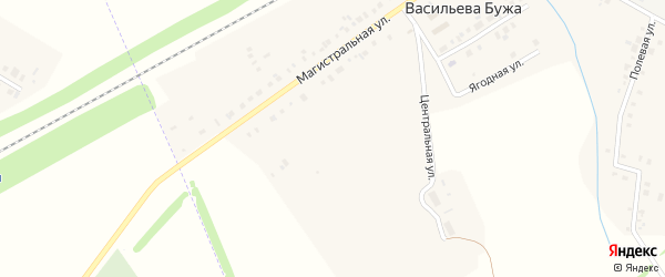 Улица Д.Валиева на карте деревни Васильевой Бужа Татарстана с номерами домов