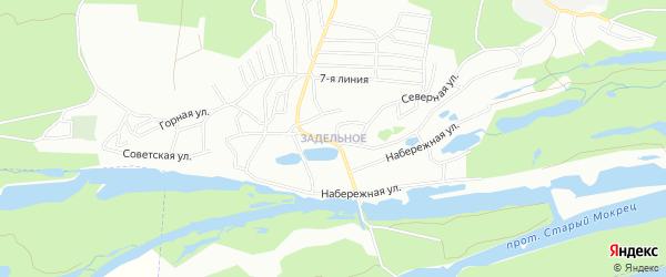 Карта Задельного села города Самары в Самарской области с улицами и номерами домов