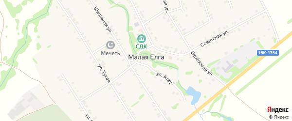 Полевая улица на карте села Малой Елги Татарстана с номерами домов