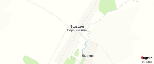 Карта деревни Большие Вершининцы в Кировской области с улицами и номерами домов