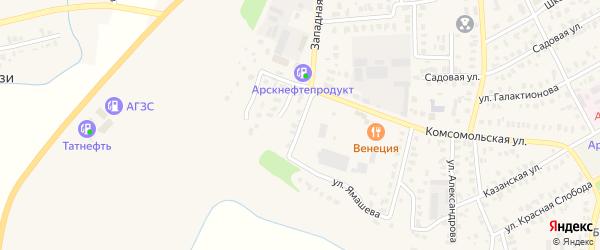 Майская улица на карте Арска с номерами домов