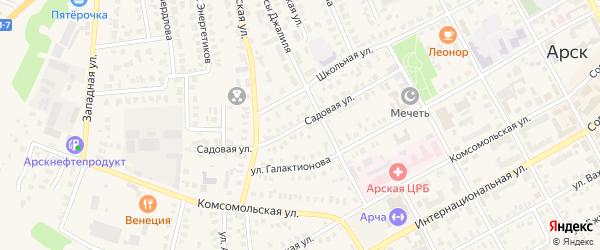 Садовая улица на карте Арска с номерами домов
